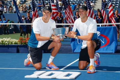 bob and mike bryan capture historic 100th team title and their 5th us open trophy