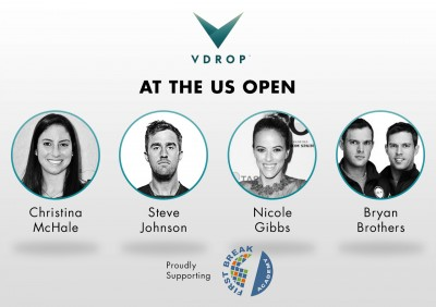 top us open american tennis stars serve-up fan challenges on vdrop to benefit first break